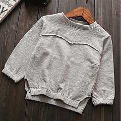 billige Hættetrøjer og sweatshirts til piger-Børn / Baby Pige Ensfarvet Langærmet Hættetrøje og sweatshirt