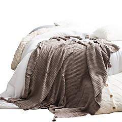 billiga Filtar och plädar-Super Soft, Reaktiv Tryck Prickig / Hundtandsmönster Cotton filtar