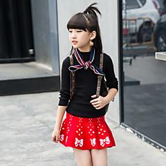 billige Tøjsæt til piger-Børn Pige Vintage / Gade I-byen-tøj Trykt mønster Trykt mønster Langærmet Lang Bomuld Tøjsæt