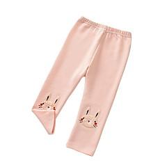 baratos Roupas de Meninas-Infantil Para Meninas Sólido Leggings