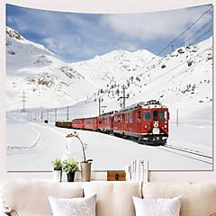 billige Veggdekor-Tog Veggdekor 100% Polyester Klassisk / Moderne Veggkunst, Veggtepper Dekorasjon