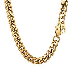 Χαμηλού Κόστους Κολιέ με Αλυσίδα-Ανδρικά Πάχος αλυσίδας Κολιέ με Αλυσίδα - Ανοξείδωτο Ατσάλι Μοντέρνα Χρυσό, Μαύρο, Ασημί 55 cm Κολιέ Κοσμήματα 1pc Για Δώρο, Καθημερινά