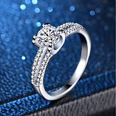 billige Motering-Dame Klassisk Ring - Platin Belagt, Fuskediamant Kjærlighed Klassisk, Romantikk 6 / 7 / 8 / 9 / 10 Sølv Til Bryllup Engasjement