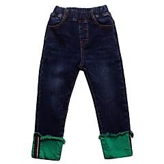 billige Jeans til drenge-Børn Drenge Basale Ensfarvet Polyester Jeans Blå
