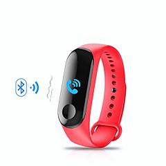 billige Smartklokker-Smart armbånd M3 til Android iOS Bluetooth Sport Vanntett Pulsmåler Blodtrykksmåling Pekeskjerm Pedometer Samtalepåminnelse Aktivitetsmonitor Søvnmonitor