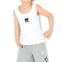 baratos Roupas de Meninos-Infantil / Bébé Para Meninos Estampado Sem Manga Top e Camisete