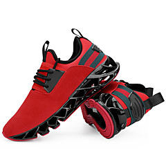 tanie Buty do biegania-Męskie Bieganie / Adidasy Guma Fitness / Chodzenie / Bieganie Anti-Shake, Amortyzacja, Ultra lekki (UL) Oddychająca siateczka Ciemnoszary / Chropowata czerń / Khaki