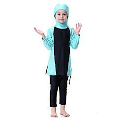 billige Badetøj til piger-Børn Pige Boheme Sport Farveblok Polyester / Nylon / Spandex Badetøj Orange 140
