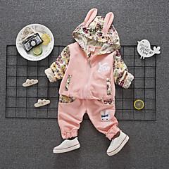 billige Tøjsæt til piger-Børn Pige Blomstret Langærmet Tøjsæt