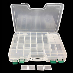 billige Fiskegrejer Kasser-Fiskegrejer Kasser Utstyrskasse Utstyrskasse Lett å bære 2 Brett Plastikker