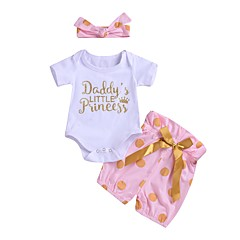 billige Babytøj-Baby Pige Prikker Kortærmet Tøjsæt