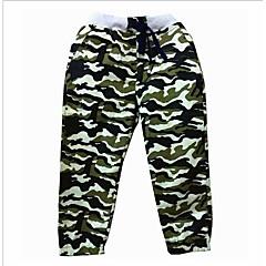 billige Drengebukser-Børn Drenge Basale Patchwork Bomuld / Polyester Bukser Army Grøn