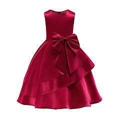 tanie Odzież dla dziewczynek-Dzieci / Brzdąc Dla dziewczynek Solidne kolory Bez rękawów Sukienka