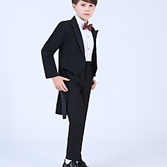 billige Tøjsæt til drenge-Børn Drenge Gade Ensfarvet Langærmet Tøjsæt