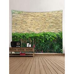 billige Veggdekor-Landskap / Bambus Veggdekor 100% Polyester Klassisk Veggkunst, Veggtepper Dekorasjon