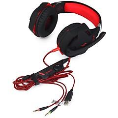 billiga Headsets och hörlurar-KOTION EACH G2100 Headband Kabel Hörlurar Hörlurar / Hörlur PP+ABS Spel Hörlur mikrofon / Med volymkontroll headset