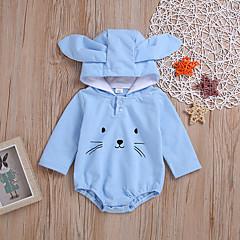 billige Babytøj-Baby Pige Trykt mønster Langærmet En del