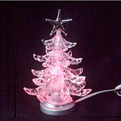 billige Originale moroleker-Julepynt Julegaver Julebelysning Jul Blomster Tema Glødende Tre Plastskall Barne Voksen Alle Leketøy Gave 1 pcs