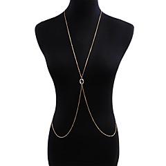 baratos Bijoux de Corps-Cadeia corpo / Cadeia de barriga Europeu, Na moda, Boho Mulheres Dourado Bijuteria de Corpo Para Bandagem / Bikini