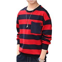 billige Hættetrøjer og sweatshirts til drenge-Børn / Baby Drenge Aktiv Daglig Stribet Trykt mønster Langærmet Normal Bomuld Hættetrøje og sweatshirt Grøn