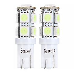 billige Interiørlamper til bil-SENCART 4stk T10 / BA9S Motorsykkel / Bil Elpærer 2 W SMD 5050 120 lm 9 LED Blinklys / Baklys / interiør Lights Til