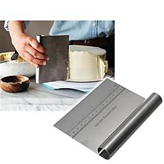 billige Bakeredskap-rustfritt stål pizza deig scraper cutter baker bakteppe spatler fondant kake dekorasjonsverktøy kjøkken tilbehør