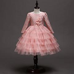 tanie Odzież dla dziewczynek-Dzieci / Brzdąc Dla dziewczynek Solidne kolory Długi rękaw Sukienka