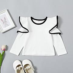 billige Hættetrøjer og sweatshirts til babyer-Baby Pige Ensfarvet Langærmet Hættetrøje og sweatshirt