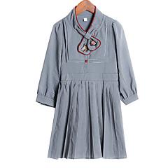 tanie Odzież dla dziewczynek-Dzieci Dla dziewczynek Solidne kolory Rękaw 3/4 Sukienka