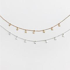 Χαμηλού Κόστους Τσόκερ-Γυναικεία Κλασσικό Κολιέ Τσόκερ - Επάργυρο, Επιχρυσωμένο Stea Στυλάτο, Απλός Χρυσό, Ασημί 45 cm Κολιέ Κοσμήματα 1pc Για Δώρο, Καθημερινά