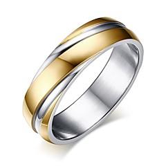 Χαμηλού Κόστους Βέρες-Ανδρικά Κλασσικό Band Ring - Τιτάνιο Ατσάλι Απλός 5 / 6 / 7 / 8 / 9 Χρυσό Για Δώρο Αργίες