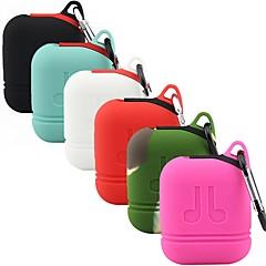 billige Tilbehør til hodetelefoner-Headphone Case Silikon Rød / Rosa / & 1 pcs