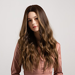 cheap Wigs & Hair Pieces-Synthetic Wig Women's Deep Wave Ombre Middle Part 130% Density Synthetic Hair 26 inch Smooth / New Arrival / Ombre Hair Ombre Wig Mid Length Capless Grey Ombre Color Golden Blonde MAYSU
