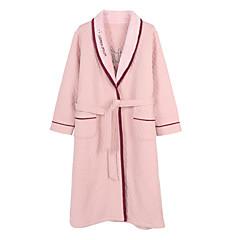 billige Moteundertøy-Dame Dyp V Dress Pyjamas - Ensfarget