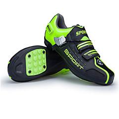 billige Sykkelsko-Barne / Voksne Mountain Bike-sko Nylon Anti-Skli, Demping, Ventilasjon Sykling / Sykkel / Sykling Hvit / Grønn Herre / Dame Sykkelsko / Ultra Lett (UL) / ånd bare Blanding / Ultra Lett (UL)