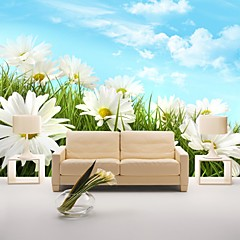 cheap -Wallpaper / Mural Canvas Wall Covering - Adhesive required Floral / Pattern / 3D
