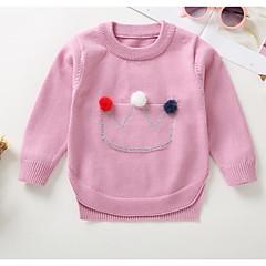 billige Sweaters og cardigans til babyer-Baby Pige Vintage Ensfarvet Langærmet Akryl / Polyester Trøje og cardigan Sort