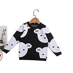 billige Sweaters og cardigans til babyer-Baby Pige Basale Daglig Ensfarvet Langærmet Normal Bomuld / Polyester Trøje og cardigan Sort 100