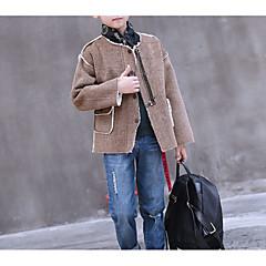 tanie Odzież dla chłopców-Dzieci Dla chłopców Solidne kolory Długi rękaw Kurtka / płaszcz