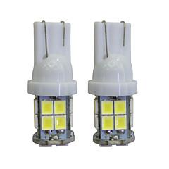 billige Interiørlamper til bil-2 stk t10 2 w 40 lm 8000k ledet interiør lys bilpærer for bil / motorsykler