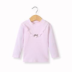 billige Babytøj-Baby Pige Basale Daglig Sort og hvid Patchwork Patchwork Langærmet Lang Lammeuld Bluse Lilla 110