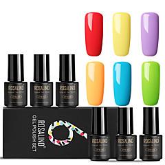 billige Neglelakk og gellakk-Neglelakk UV-Gel 7 ml 6 pcs trendy / Glamour Dypp av langvarig Engasjement / Stevnemøte / Profesjonell trendy / Glamour