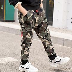 billige Jeans til drenge-Børn Drenge Gade Daglig / I-byen-tøj Trykt mønster / Patchwork Patchwork / Trykt mønster Rayon Jeans Army Grøn 140
