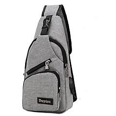 Men's Bags Nylon Sling Shoulder Bag Zipper Black / Gray / Purple