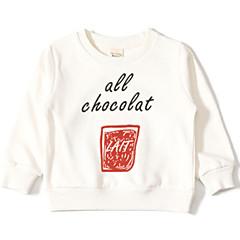billige Hættetrøjer og sweatshirts til piger-Baby Pige Aktiv Daglig Ensfarvet / Geometrisk Langærmet Normal Polyester Hættetrøje og sweatshirt Grå