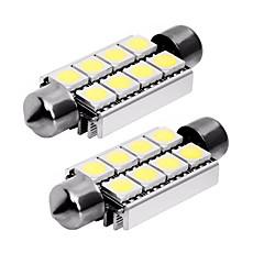 billige Interiørlamper til bil-2pcs 42mm Bil Elpærer 1 W SMD 5050 80 lm 8 LED Baklys / interiør Lights Til Universell Universell Universell