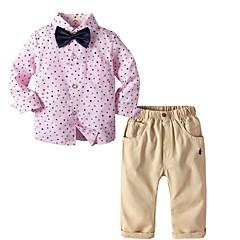 economico Abbigliamento per bambini-Bambino Da ragazzo Essenziale Con stampe Manica lunga Cotone Completo Rosa