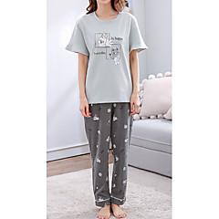 billige Moteundertøy-Dame Rund hals Dress Pyjamas - Geometrisk