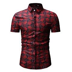Camicia Per uomo Essenziale Con stampe, Fantasia floreale / Monocolore
