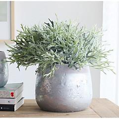 billige Kunstige blomster-Kunstige blomster 2 Gren Klassisk Scenerekvisitter Orientalsk Planter Juletre Bordblomst